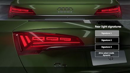Animation: Digital OLED lighting technology in the Audi Q5